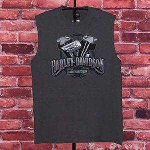 Harley Davidson Chrome Shine Sleeveless Tee